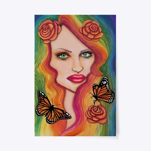 Rainbow Goddess   Art Of Jameela Standard T-Shirt Front
