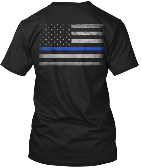 Support Blue Black T-Shirt Back