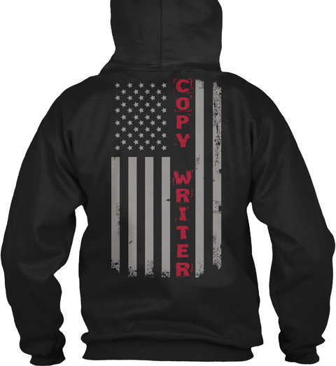 Copy Writer American Flag Pride LongSleeve Tee