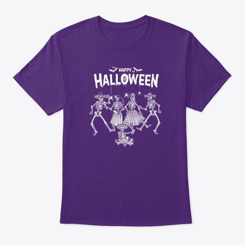 Dancing For Happy Halloween 1.0 T Shirt Purple T-Shirt Front