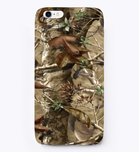 Hunter Camo   I Phone Case White T-Shirt Front