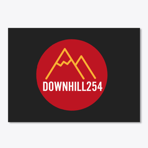 Downhill254 T Shirts &Amp; Stickers Black T-Shirt Front