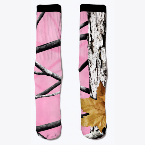 Camo Colored Socks, Pink Standard T-Shirt Front