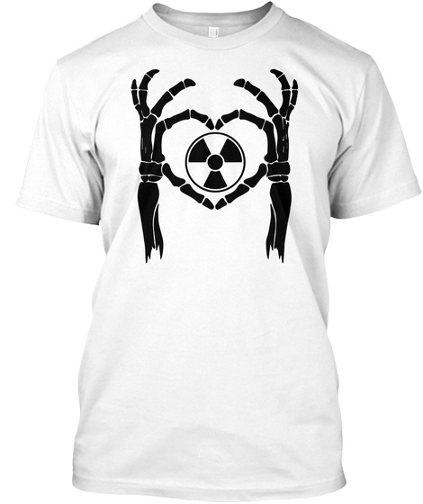 Radiology Rad Tech Skeleton Love Rt Rad Tech Hear T Shirt White T-Shirt Front
