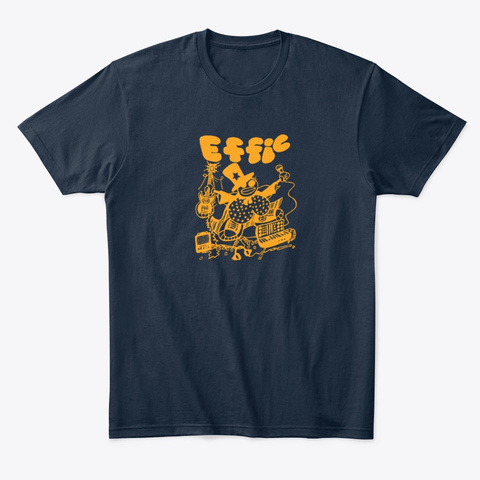 Effic: Electric Tangerine New Navy T-Shirt Front
