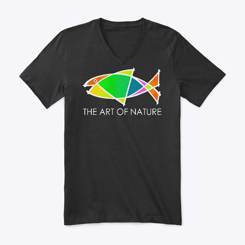 The Art Of Nature Fish Shirt Black T-Shirt Front