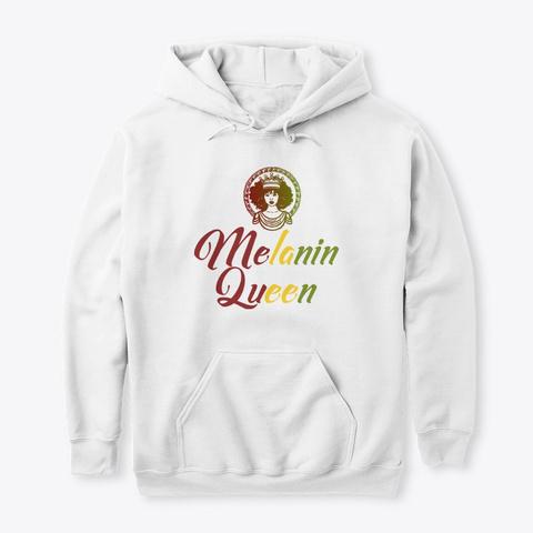 Melanin Queen Rasta Colors White Camiseta Front