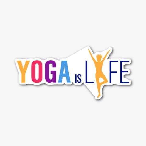 Yoga Is Lyfe   Yellow Pose Standard T-Shirt Front