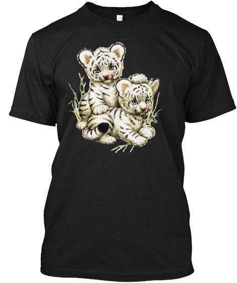 Little Tigers T Shirt Black T-Shirt Front