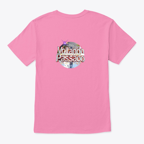Stars Retro 80s Pink T-Shirt Back