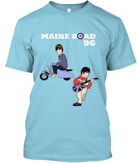 Maine Road 96 Light Blue T-Shirt Front