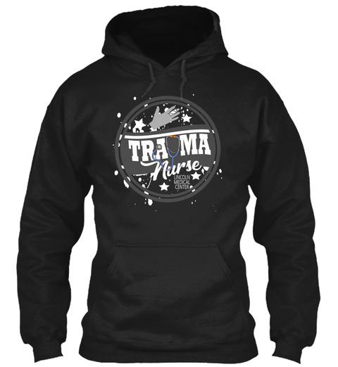 Trauma Nurse Black T-Shirt Front