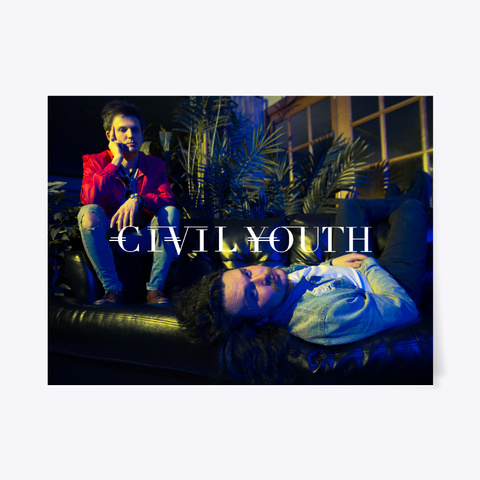 Civil Youth Poster White T-Shirt Front