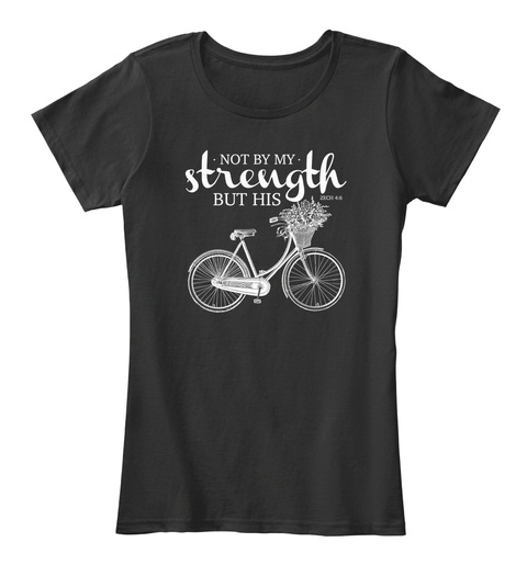 Not By My Strength But His Black Women's T-Shirt Front