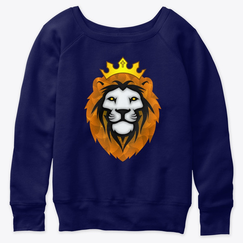 Make Way For The Lion Custom Art Clothes Navy  T-Shirt Front