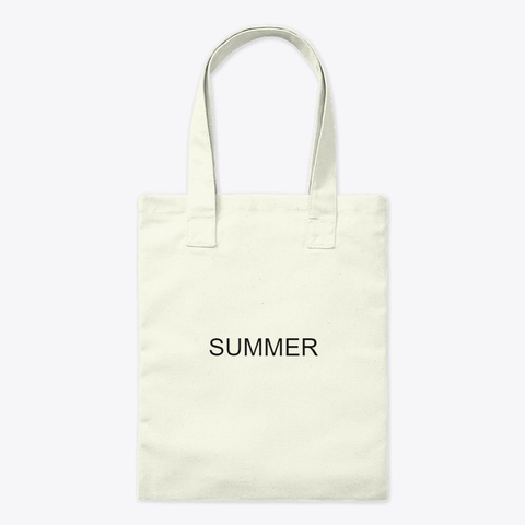 Summer (Tote Bag) Natural T-Shirt Front