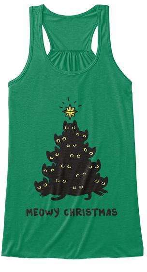 Christmas Tops.Meowy Christmas Tank Tops