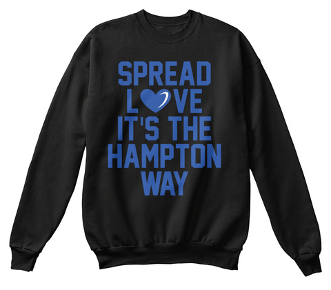 Spread Love It's The Hampton Way Black T-Shirt Front