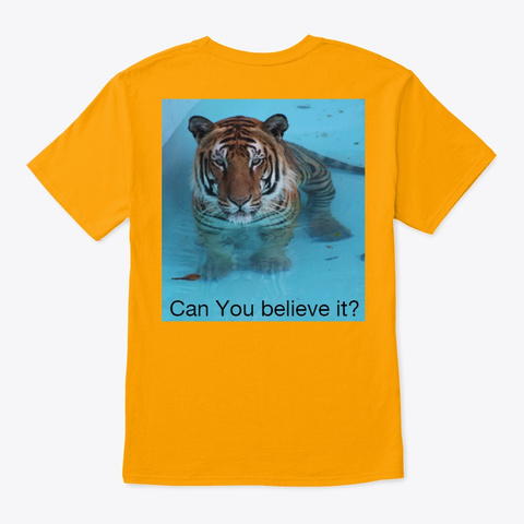 Enzo The Tiger T Shirt Gold T-Shirt Back
