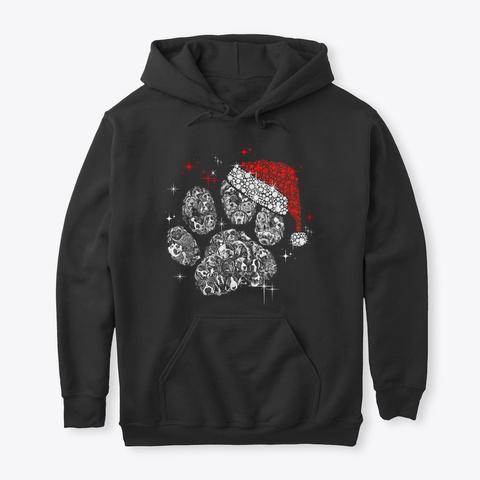 Perfect Christmas Santa Paw Black T-Shirt Front