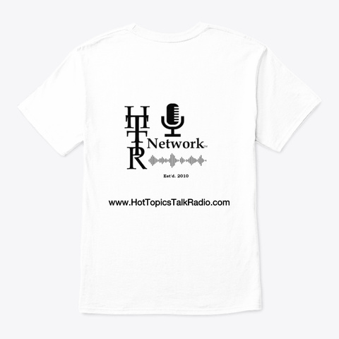 Real World News Tv Classic Tee White T-Shirt Back