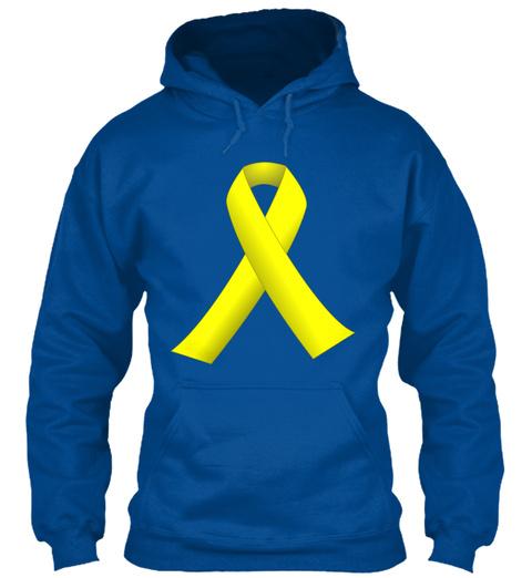Yellow Ribbon Royal Sweatshirt Front