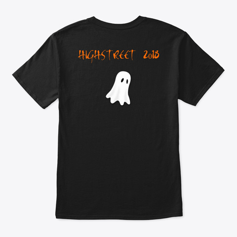 High Street Paranormal Halloween T Shirt Black T-Shirt Back