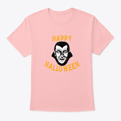 Spooky   Vampire Halloween Holiday T Sh Pale Pink T-Shirt Front