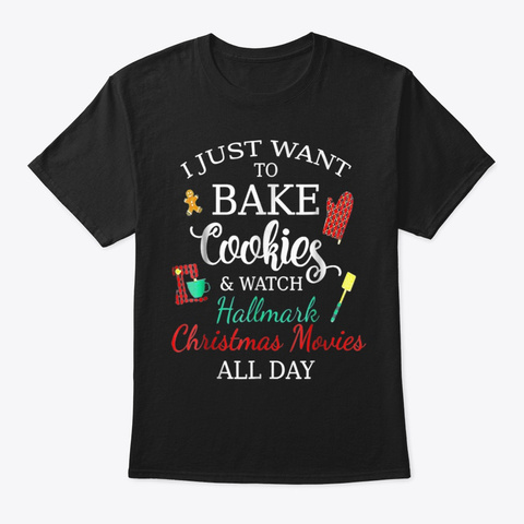 Watch Hallmark  Christmas Movies T Shirt Black T-Shirt Front