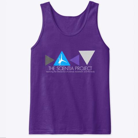 The Scientia Project Merchandise Purple T-Shirt Front