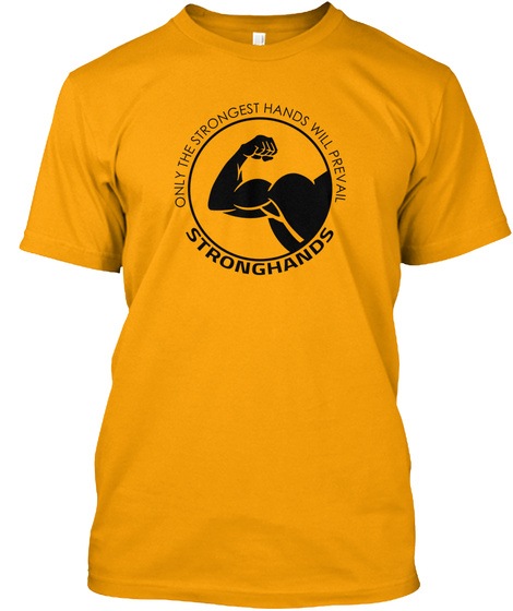 Official Stronghands  Gold T-Shirt Front