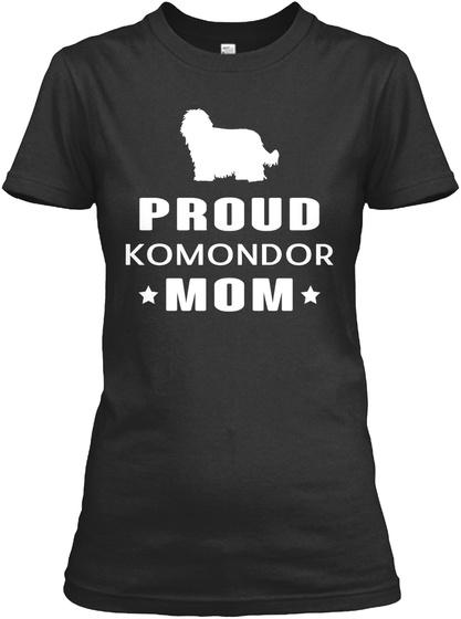 Komondor Black T-Shirt Front
