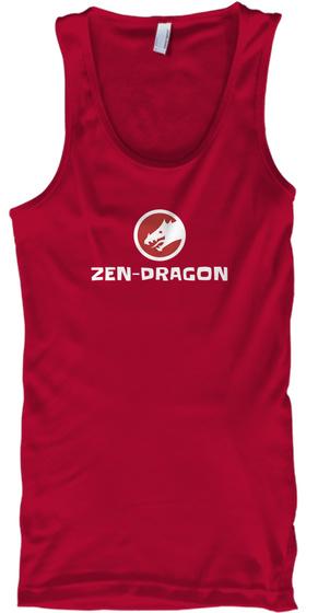 Zen Dragon Red Tank Top Front