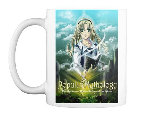 Popular Mythology Tiger Mug White T-Shirt Front