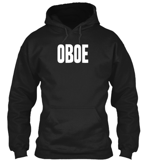 Oboe Black T-Shirt Front