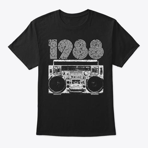 1988 Boombox Black T-Shirt Front