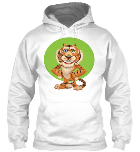 Tiger Wildnis Wildness Africa Animal Tie White T-Shirt Front