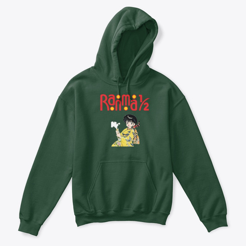 Ranma ½ Manga T Shirt035 Forest Green T-Shirt Front