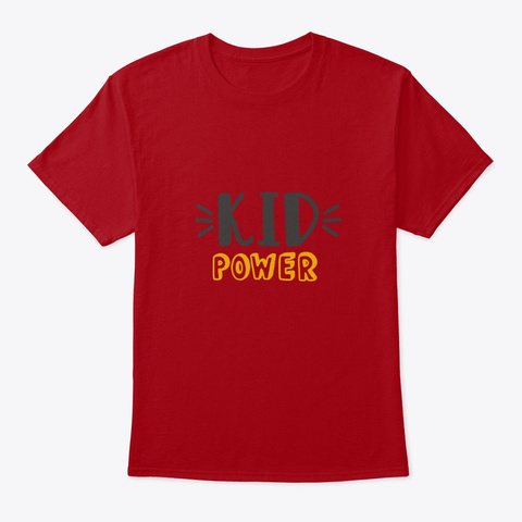 Kid Power Deep Red T-Shirt Front