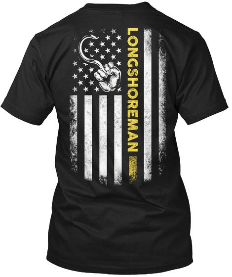 Longshoreman Black T-Shirt Back