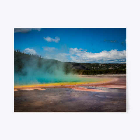 Grand Prismatic Ii   Yellowstone Park White T-Shirt Front