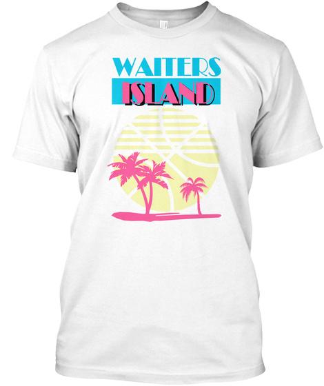 Waiters Island White T-Shirt Front