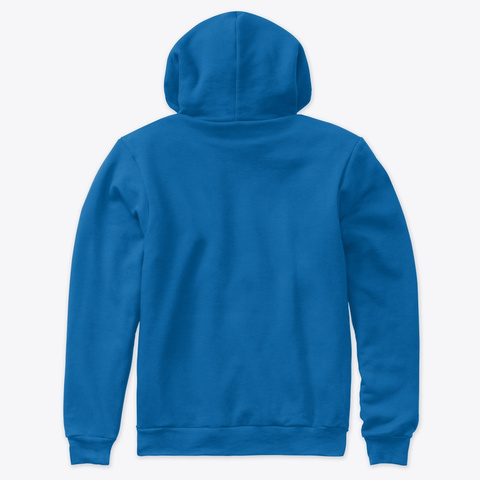Premium Light Hoodie True Royal T-Shirt Back