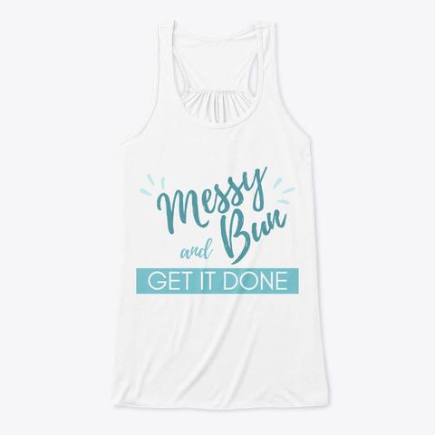 Do It On A Dime Messy Bun Tank White Camiseta Front