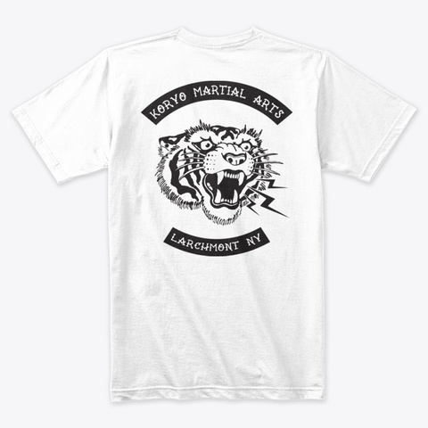 'savage Tiger' Collection White T-Shirt Back