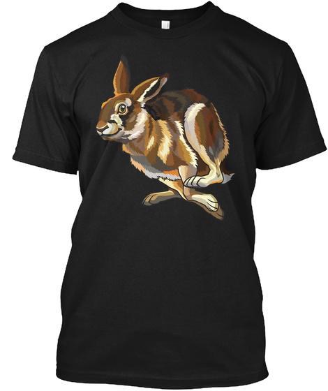 Rabbit Bunny 6 Funny Art Shirts Black T-Shirt Front