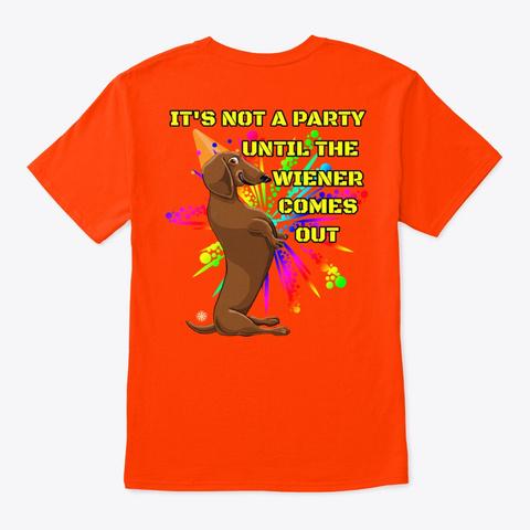 Dachshund's Rule  Shirt Orange T-Shirt Back