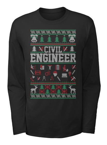Civil Engineer Black T-Shirt Front