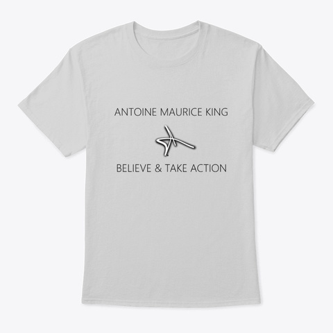 Antoine Maurice King Believe Collection Light Steel T-Shirt Front