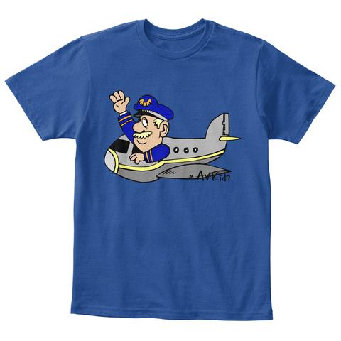 #Av Kids Deep Royal  T-Shirt Front